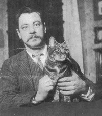 John Russell with cat